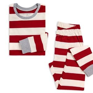 Burts Bees Rugby Stripe Pajama set